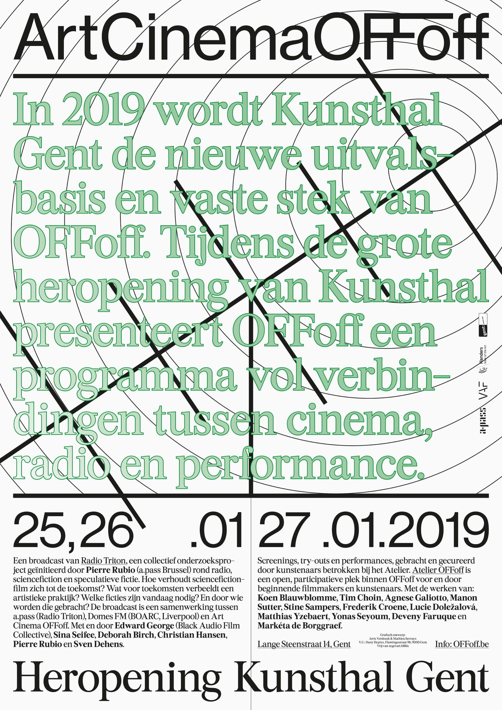 Heropening Kunsthal Gent, Art Cinema OFFoff, A2 poster